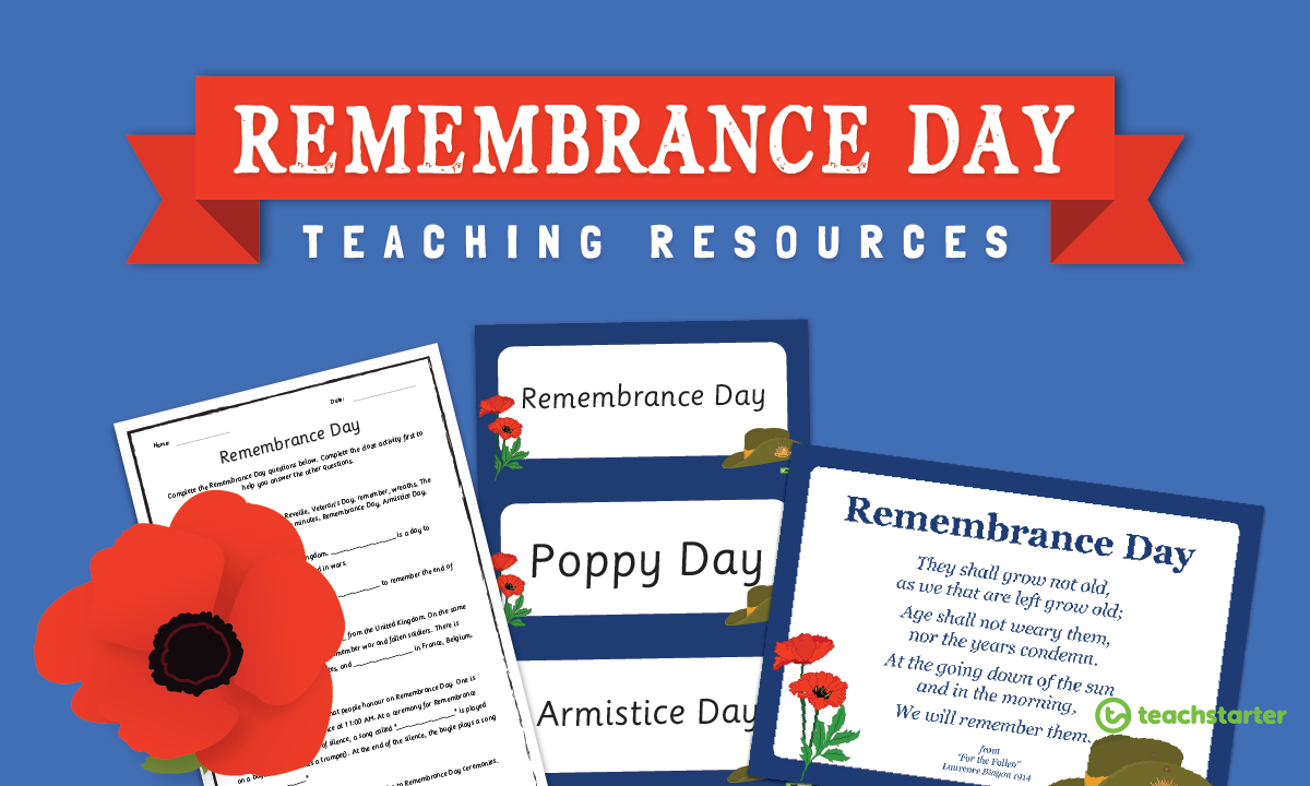 Remembrance Day Teaching Resources Downloadable