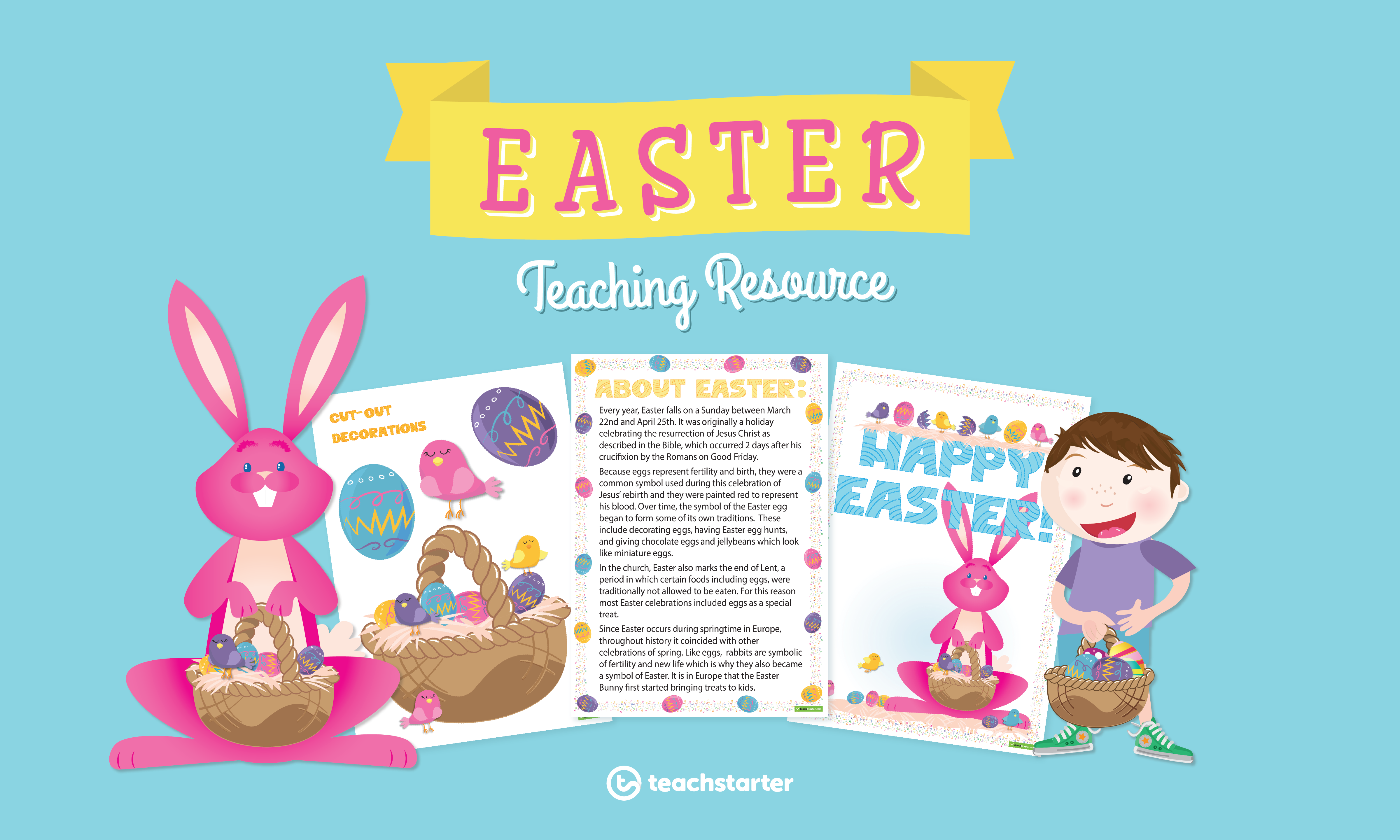 printable Easter art and craft and teaching resources