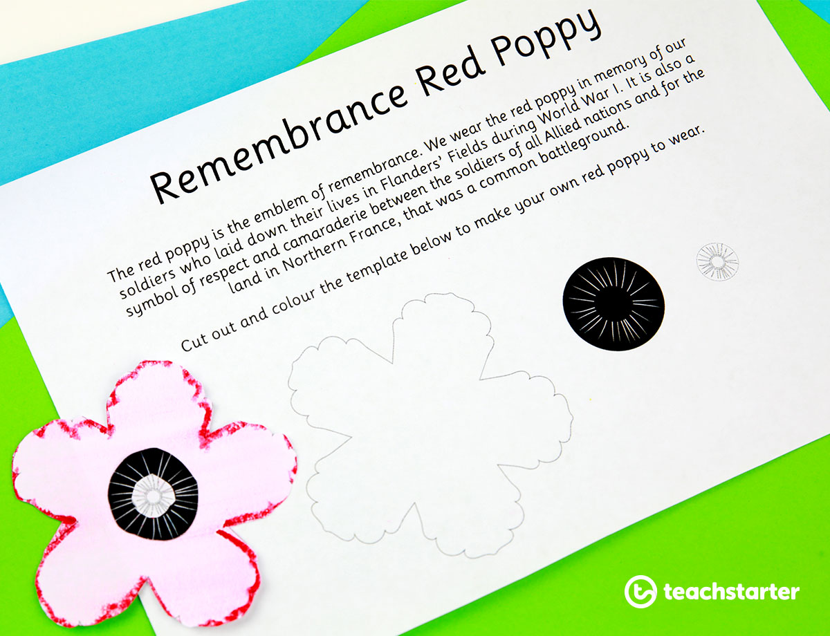Red Poppy Template