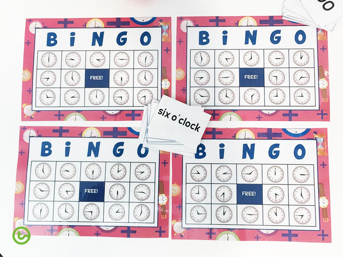 Time Resources and Activities - Bingo