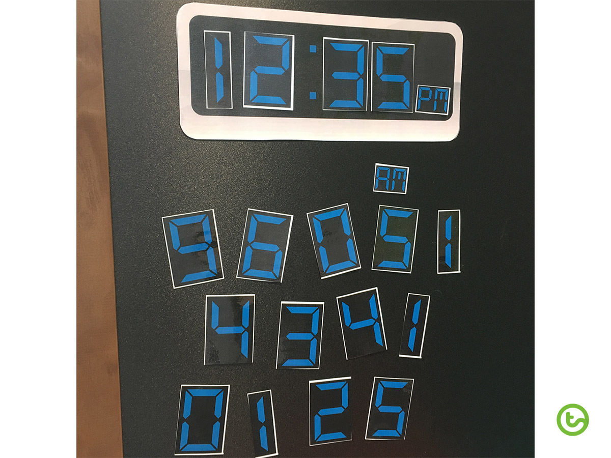 Time Resources and Activities - Digital Clock Template
