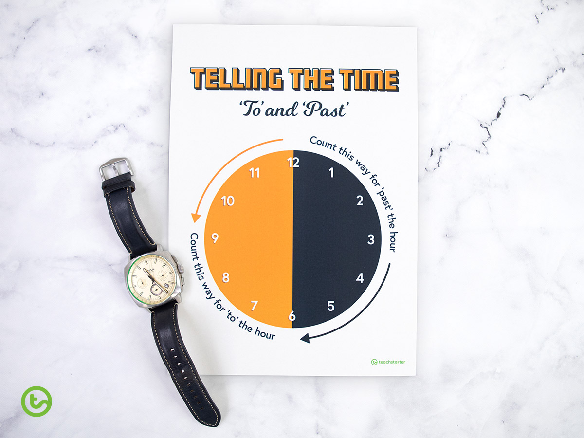 Time Activities and Resources - Telling the Time Past and To