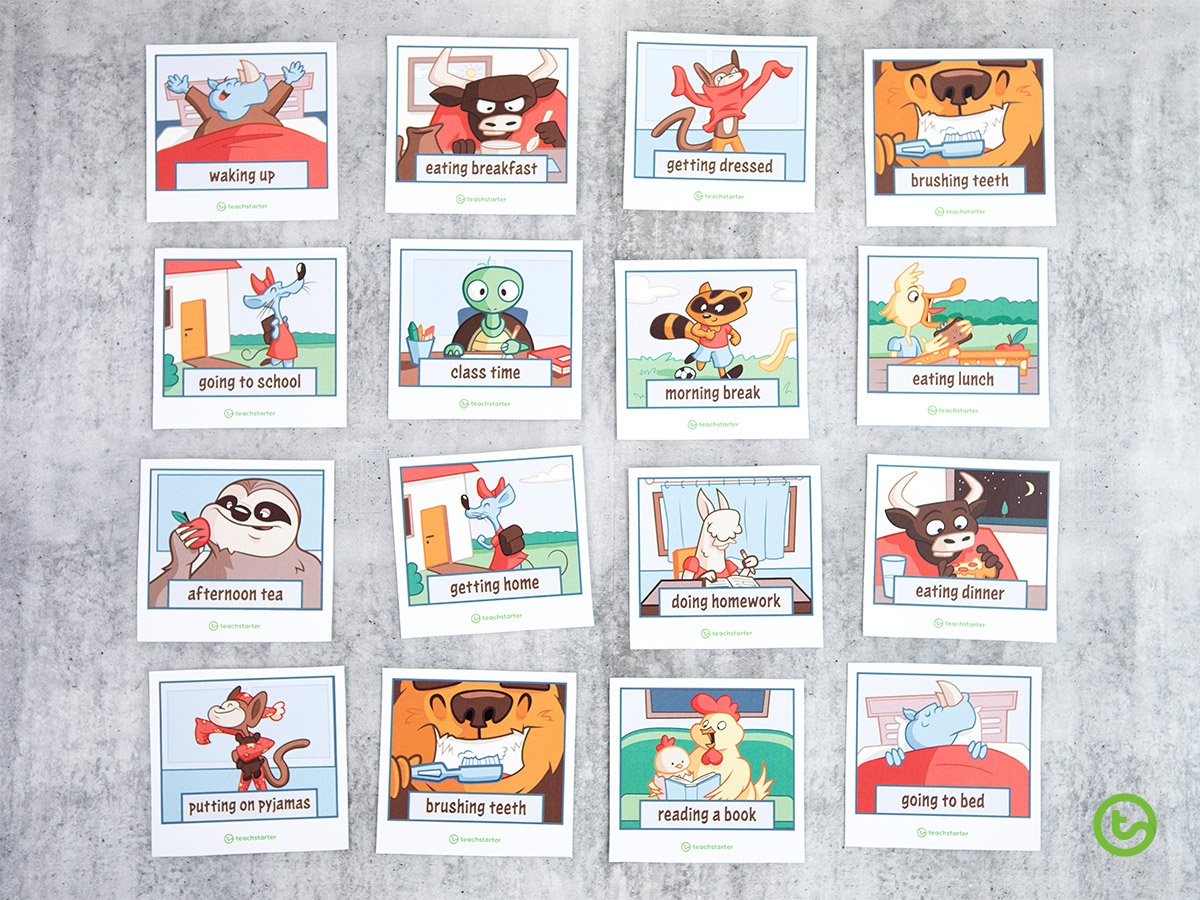 Time Activities and Resources - Time Activity Cards