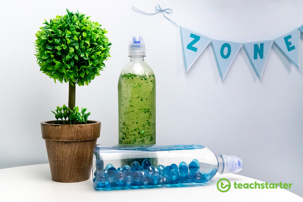 sensory bottle in chill out corner