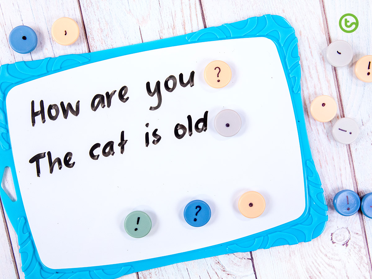 Punctuation magnets activity for the early years