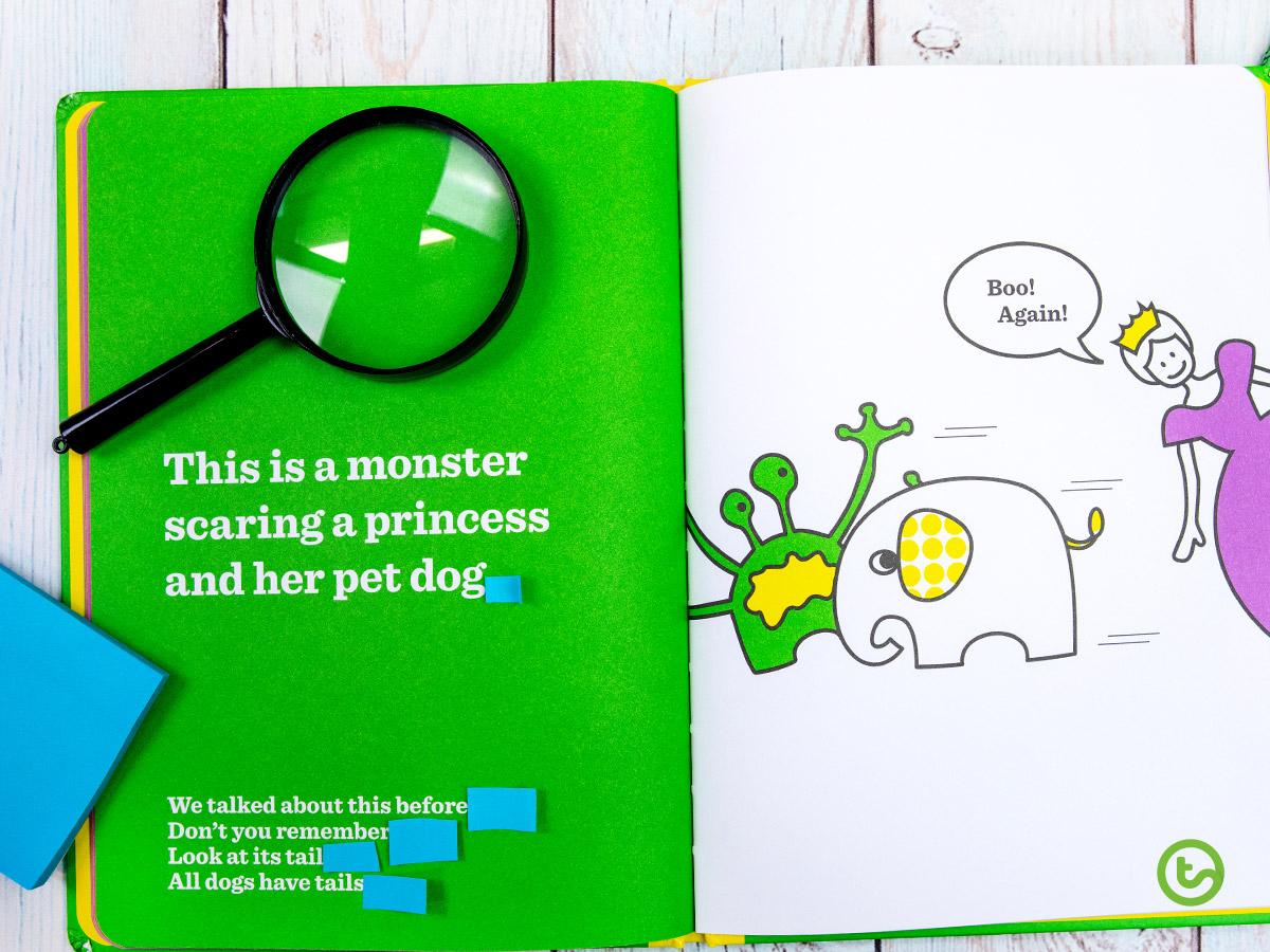 Punctuation scavenger hunt in kids books