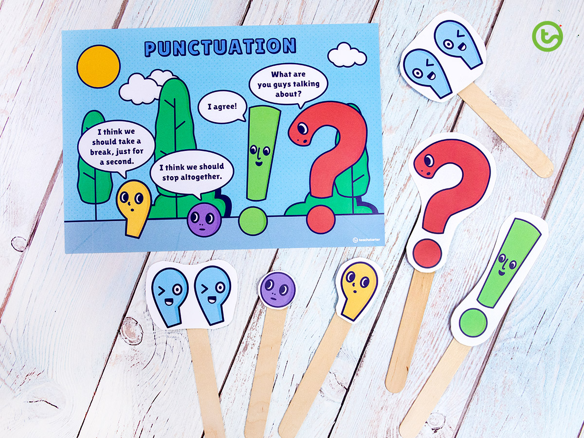 Punctuation puppets for kids