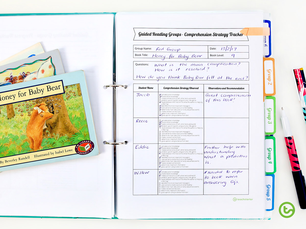 Guided Reading templates for the teacher