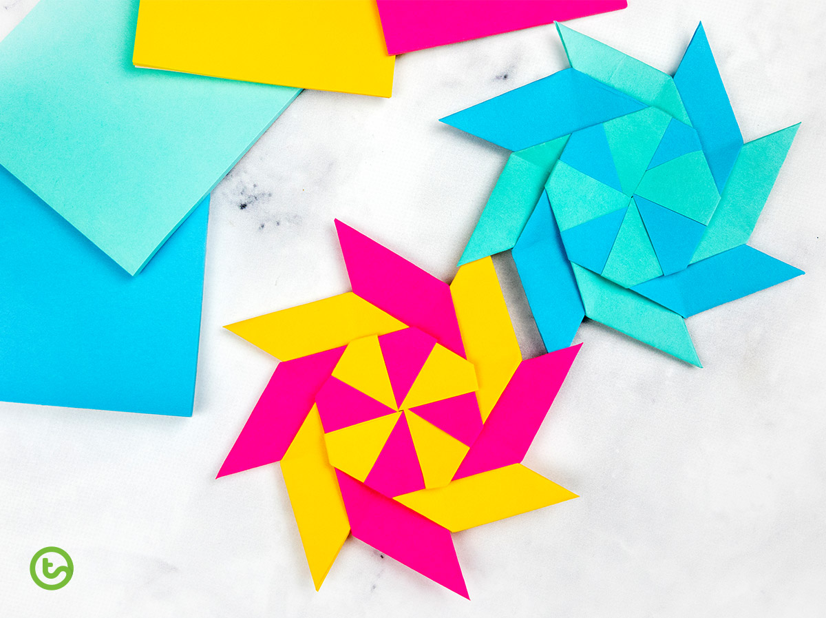 How To Make a Paper Transforming Ninja Star - paper origami easy ... | 897x1200