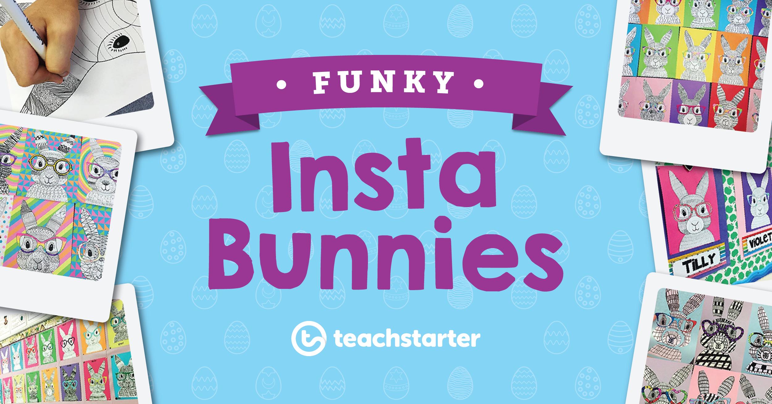 Teach Starter Funky Easter Bunny Craft Idea