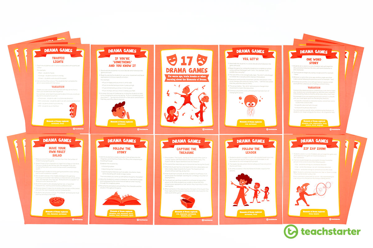 printable drama games for kids