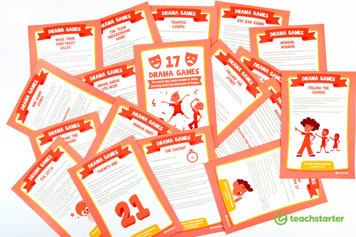 drama for kids - activities and printable task cards