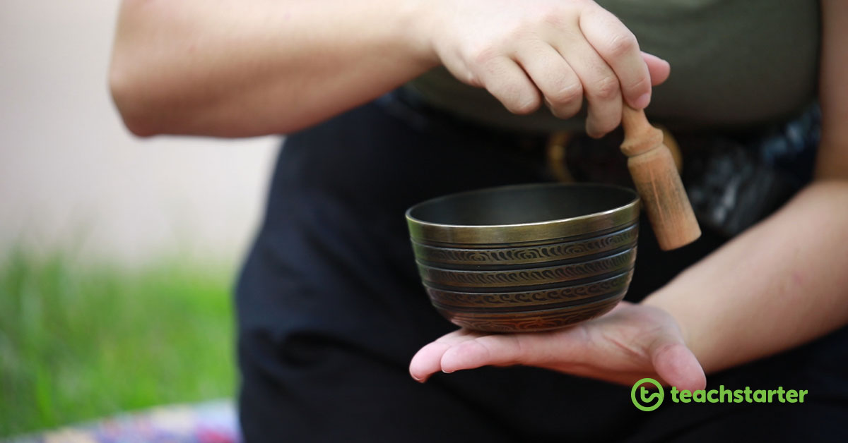 singing bowl - meditation and mindfulness activities for kids