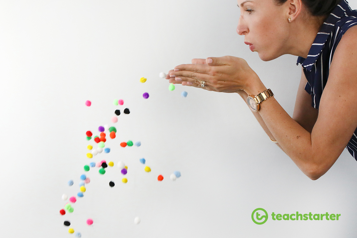 Demonstrate how germs spread to children.