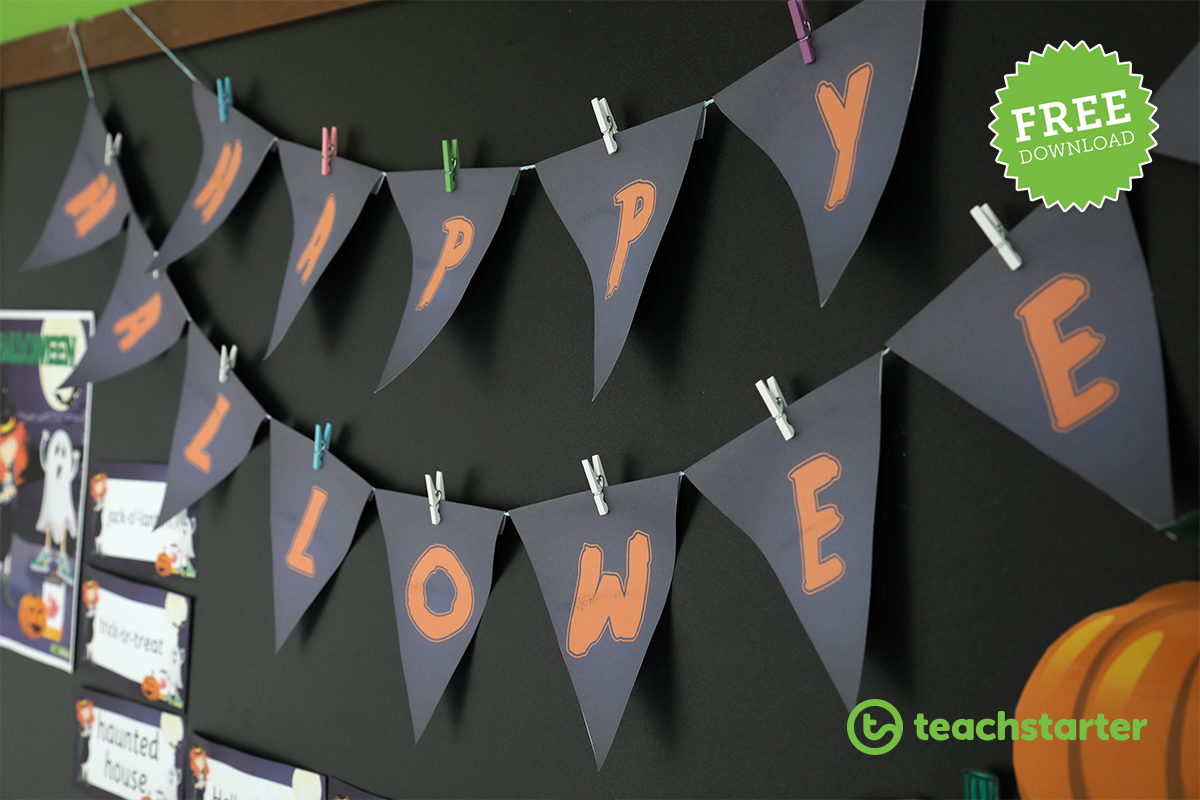 Downloadable Halloween Decorations and Teaching Resources