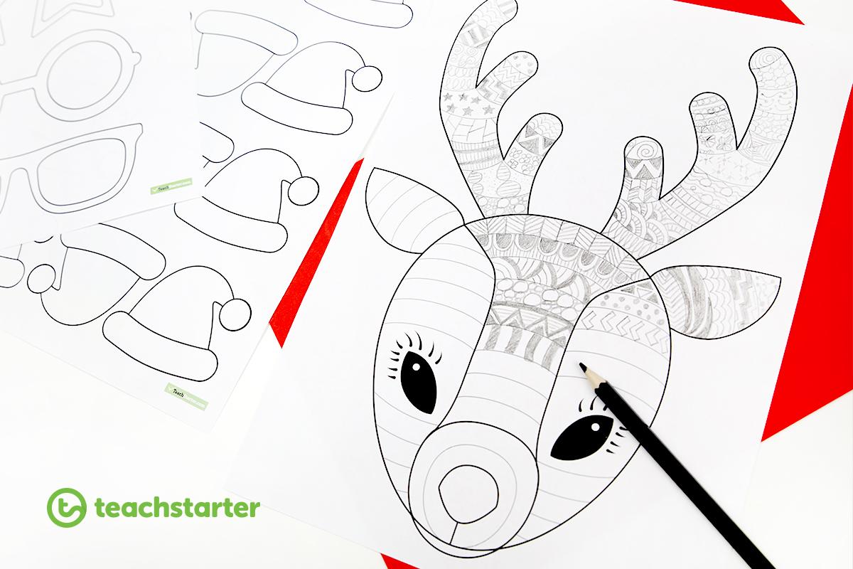 Fun Reindeer Christmas Craft Template