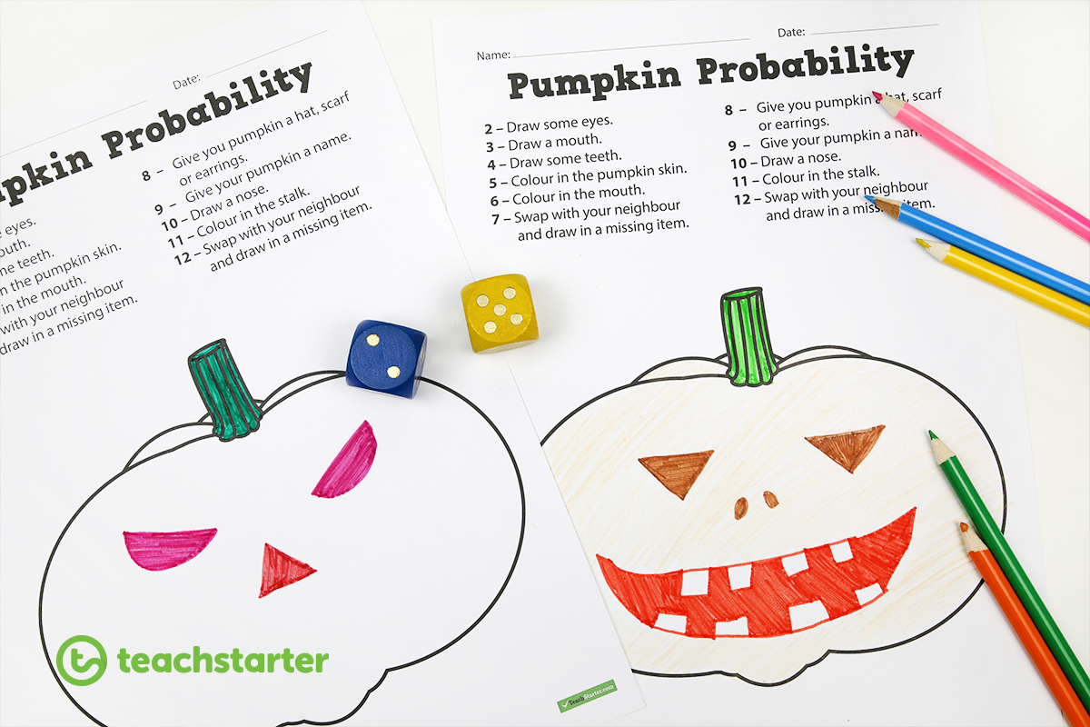 Pumpkin Probability Game for Halloween Classroom Activities