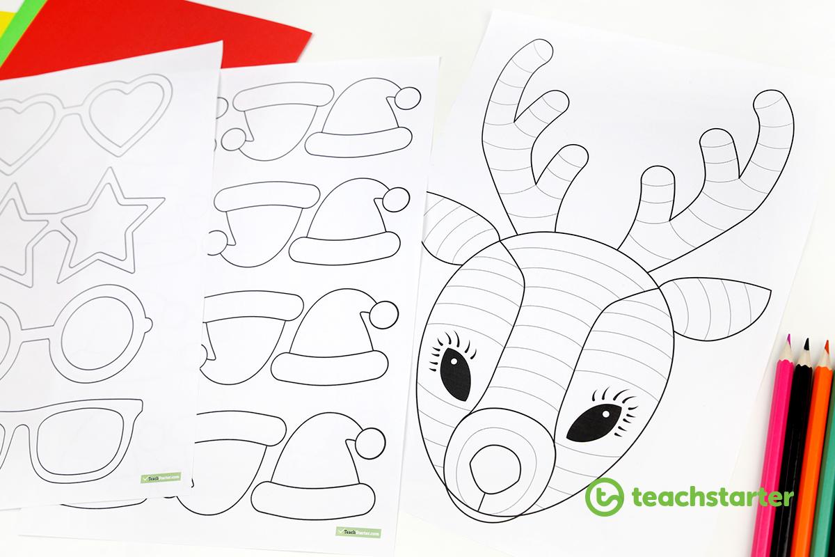 Funky Reindeer Christmas Craft - Teach Starter Blog