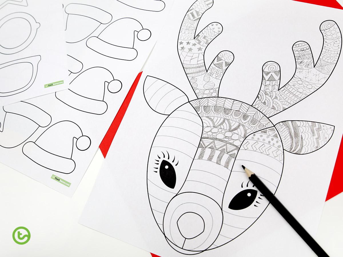Funky Reindeer Template