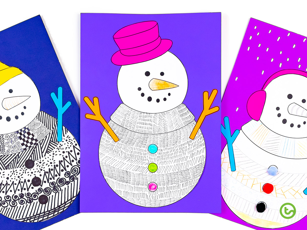 Funky Snowman template