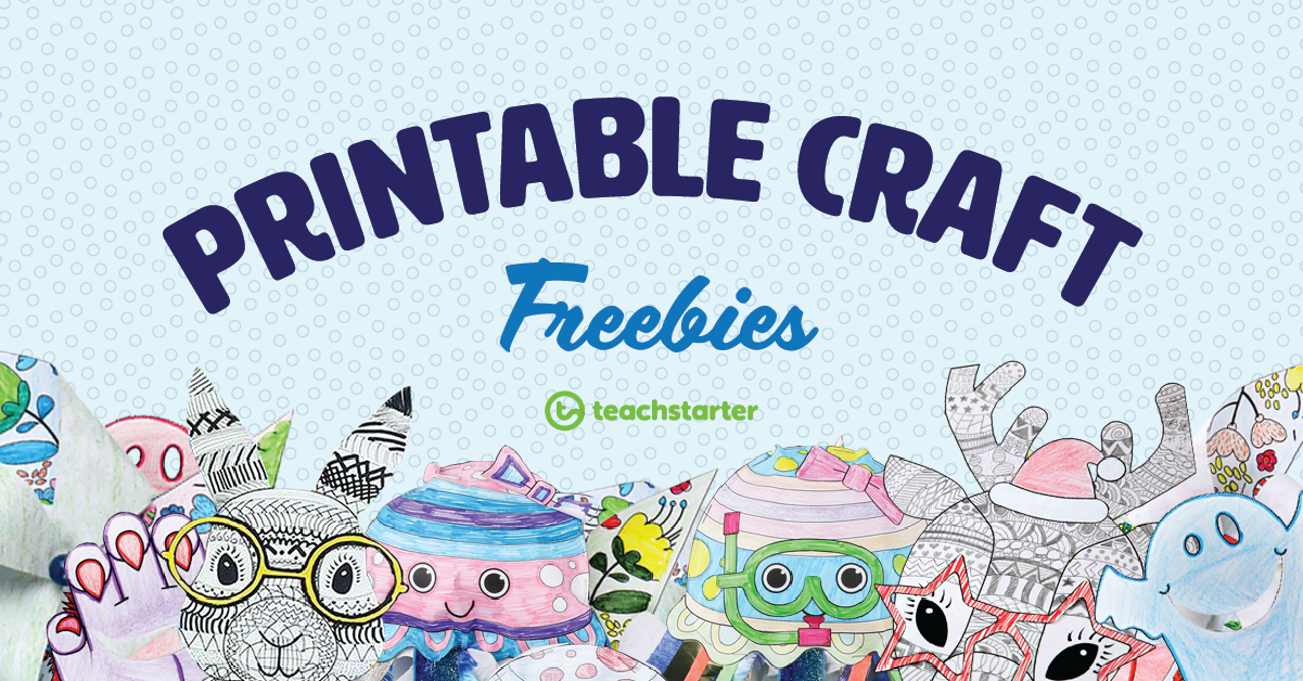 printable craft freebies