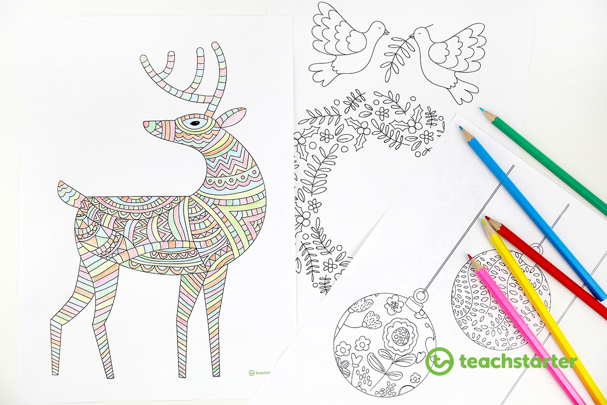 Mindful Holiday Coloring Sheets For Young And Old