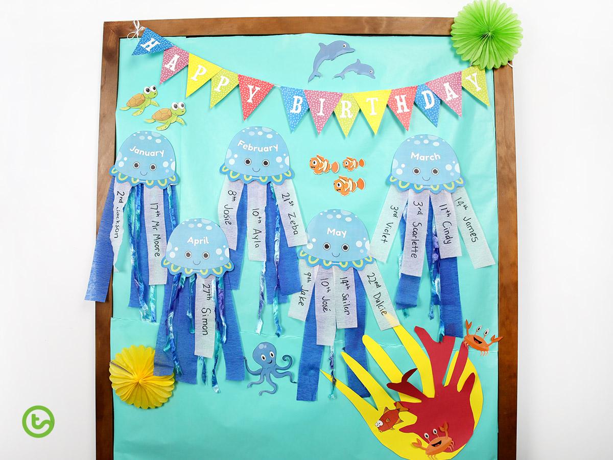 Birthday Wall Display - Under the Sea