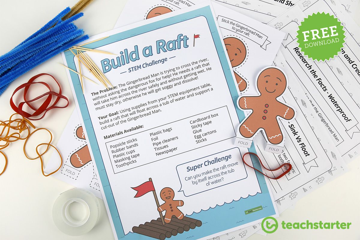 Build a Raft STEM challenge - free download