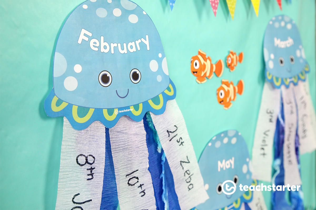 Sea Jelly or Jellyfish Themed Birthday Display
