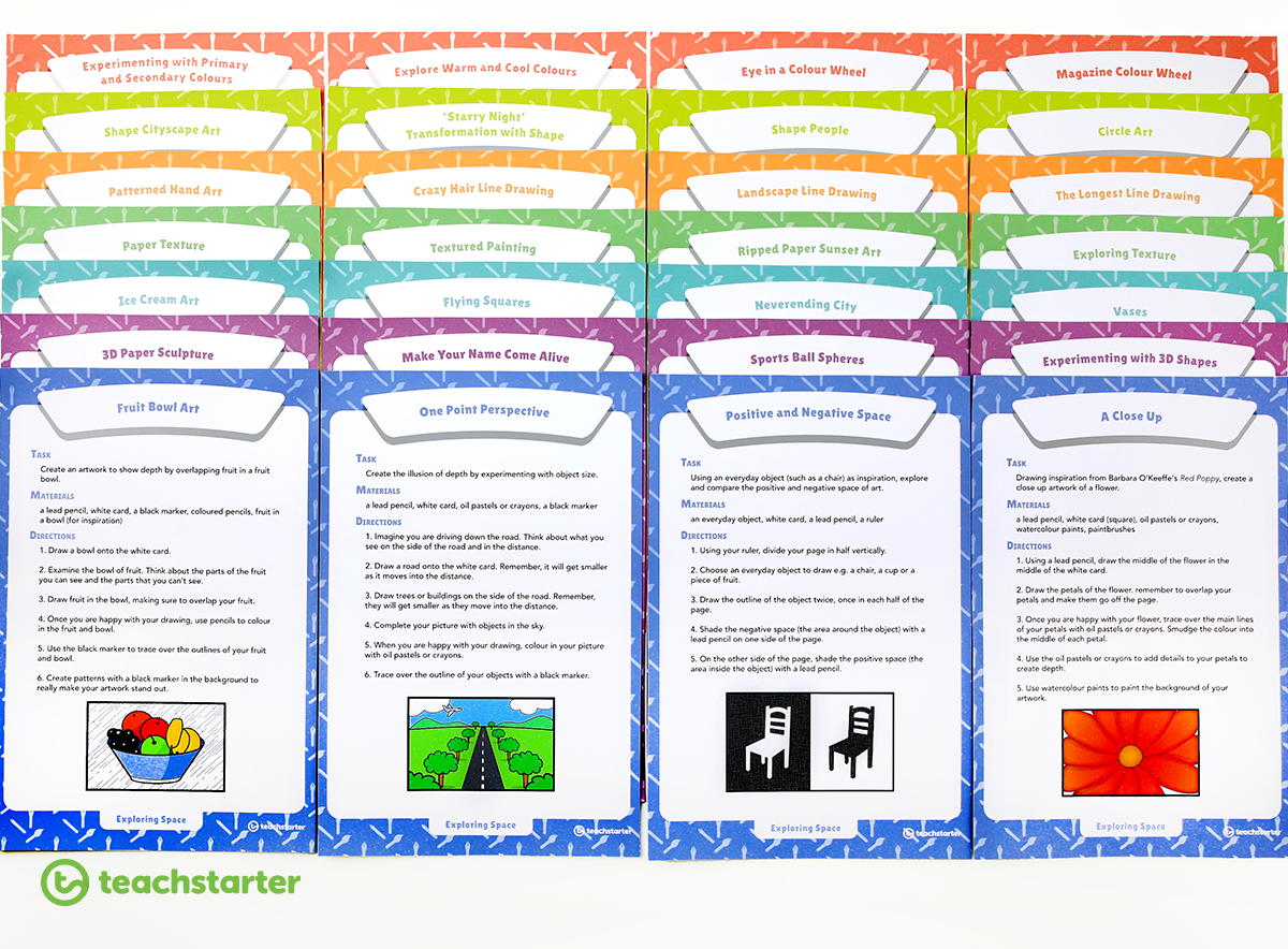 Art Elements Activity Task Cards
