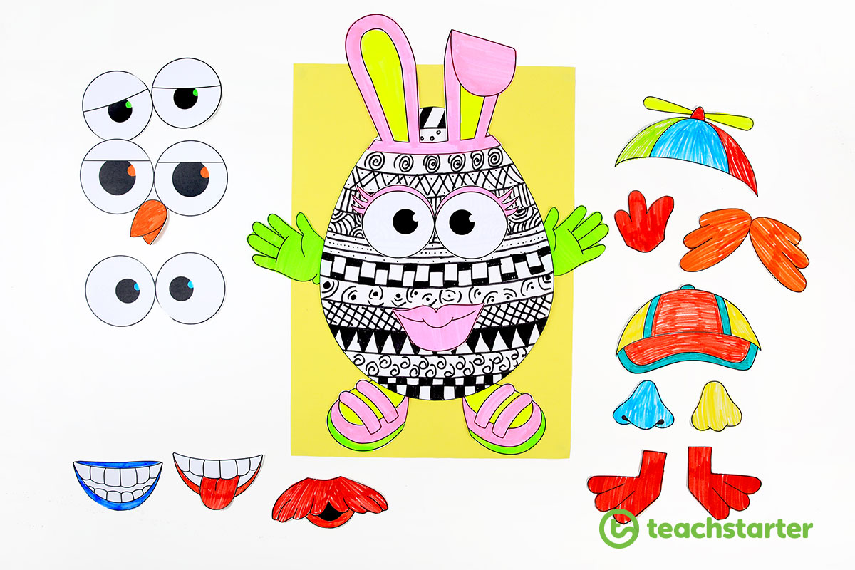 Cute Easter Egg Craft Activity Template