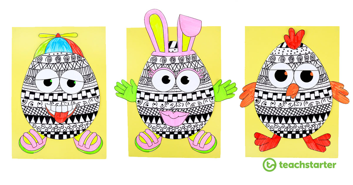 picture about Easter Egg Printable Template referred to as Funky Easter Egg Craft Thought and [Free of charge] Printable Template!
