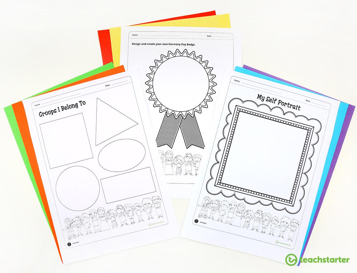 Printable Harmony Day Activities