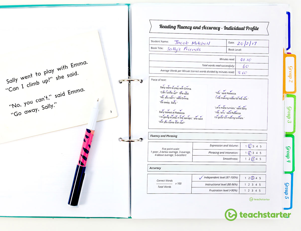 Guided Reading Fluency and Accuracy Tool