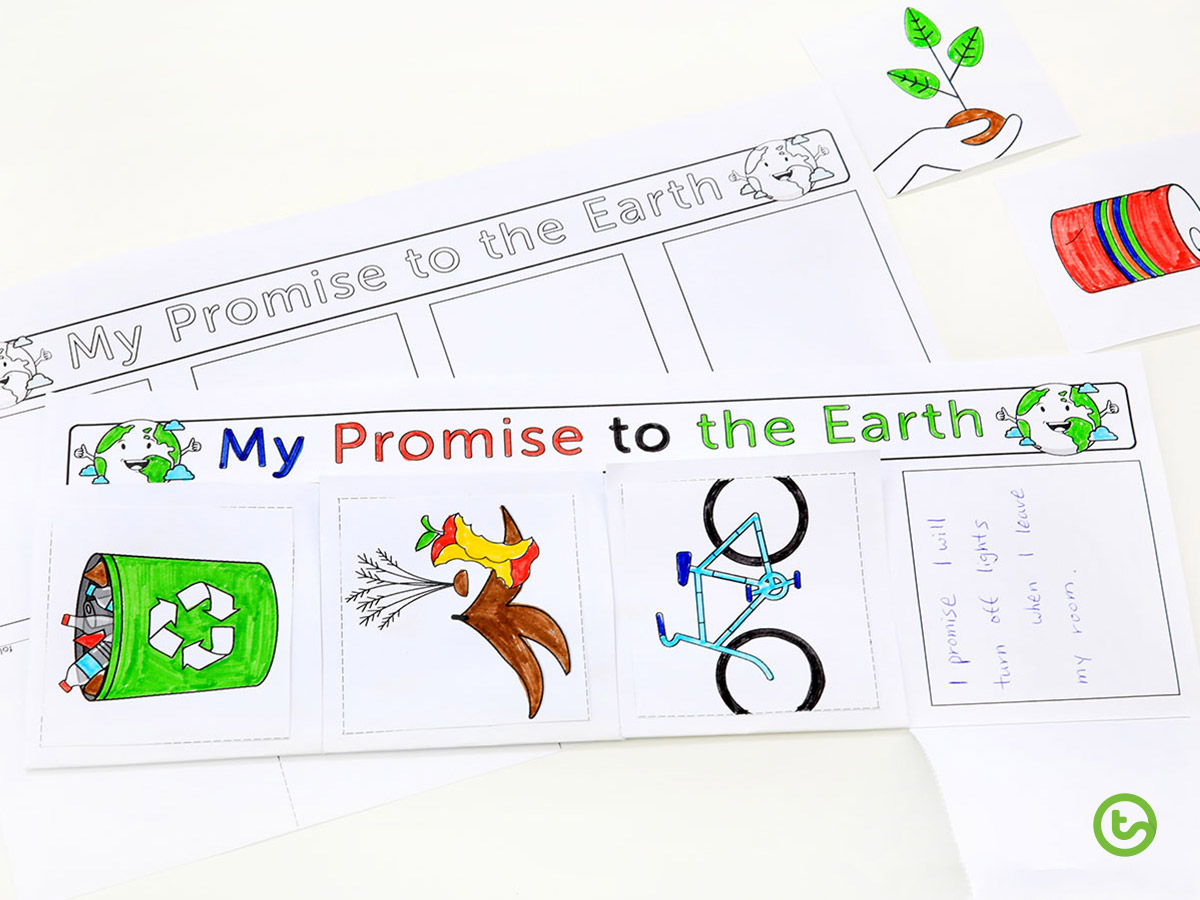 2020 Classroom Earth Hour Activites - Make a promise to the Earth