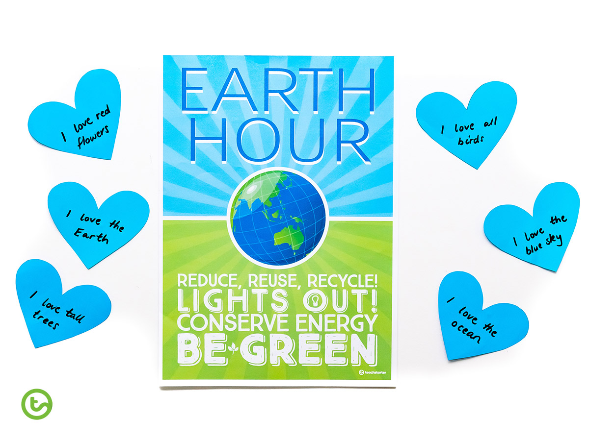 2020 Classroom Earth Hour Activities - We Love the Earth