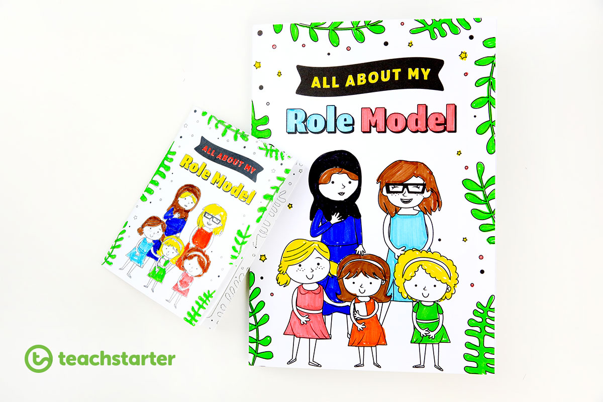 All About my Role Model Booklet Activity