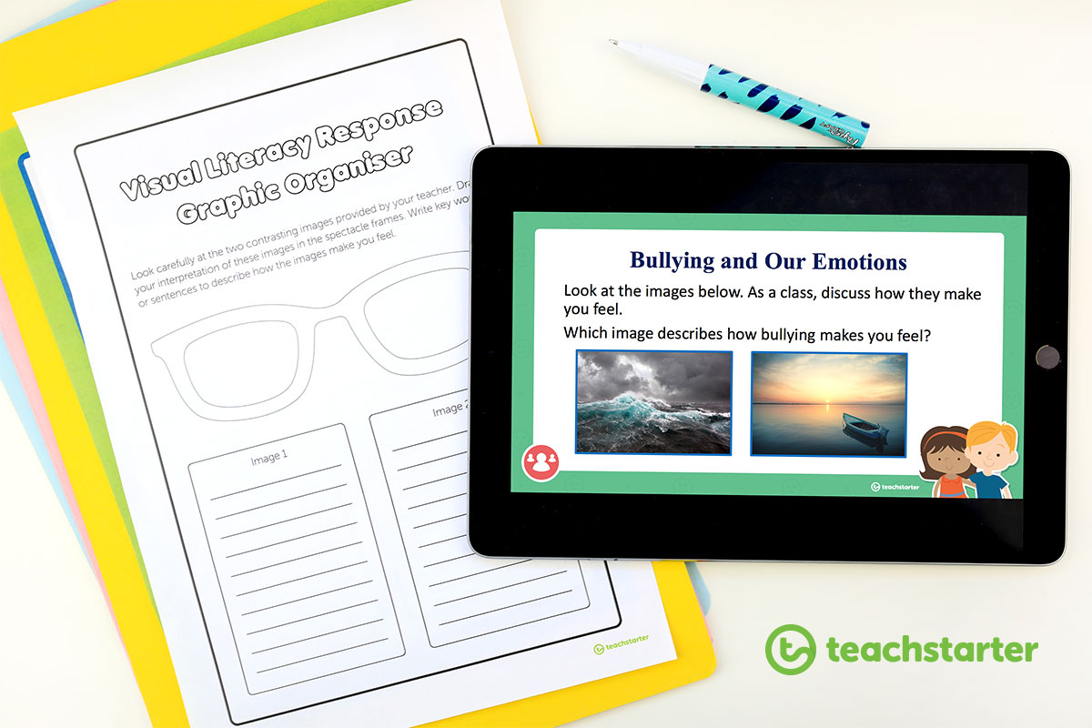 Anti-bullying powerpoint presentation and worksheet