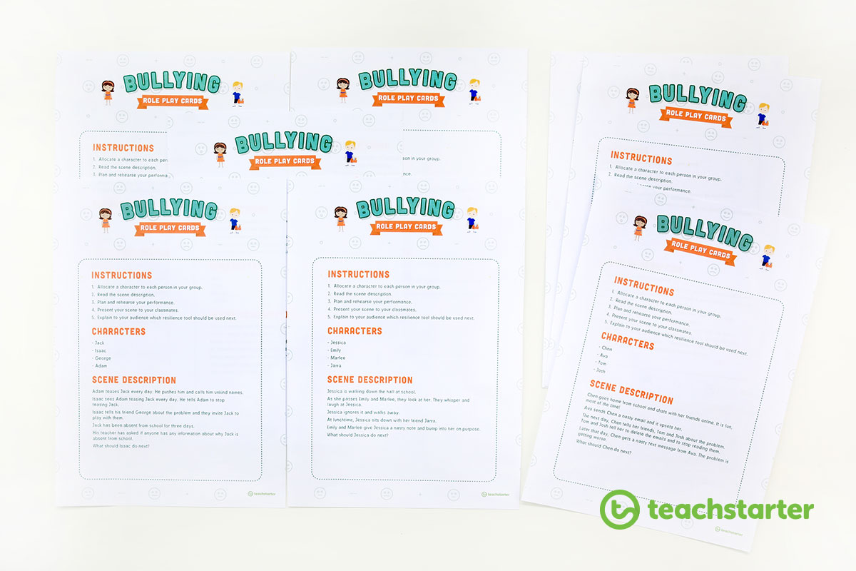 Bullying Scenario Role Play Cards