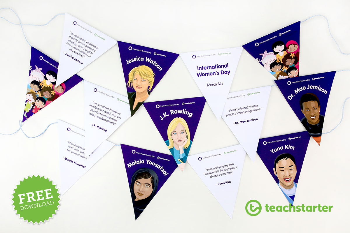 International Women's Day Bunting Printable
