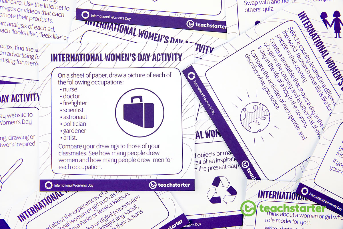 International Women's Day Activity Task Cards