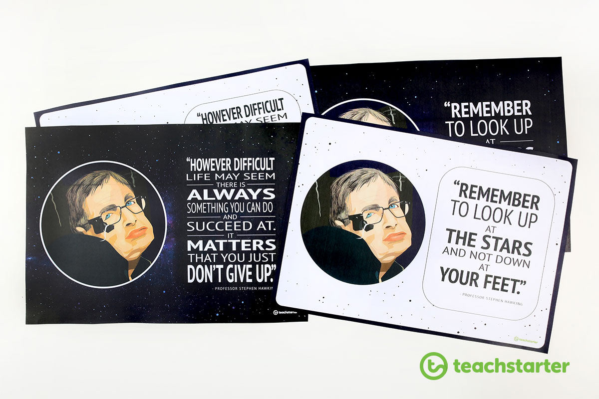 Free printable Stephen Hawking quote posters