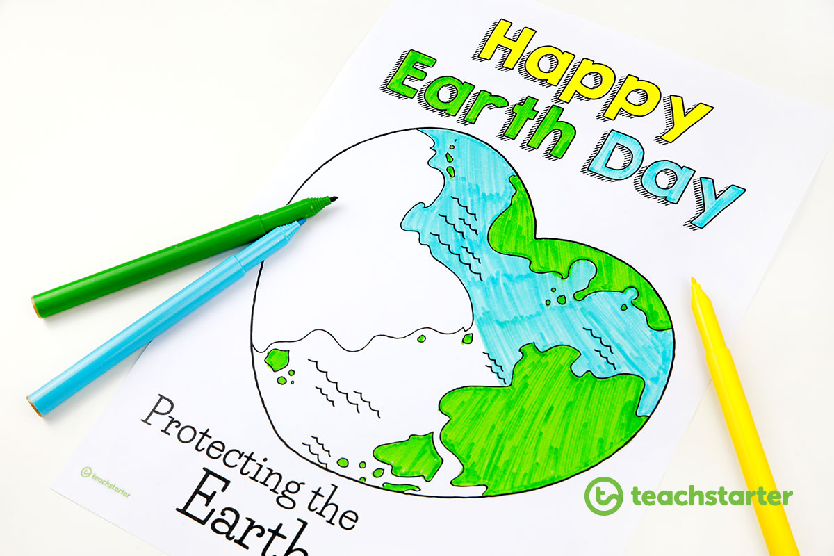 10 excellent earth day activities and teaching resources 2018 happy earth day colouring in sheet ccuart