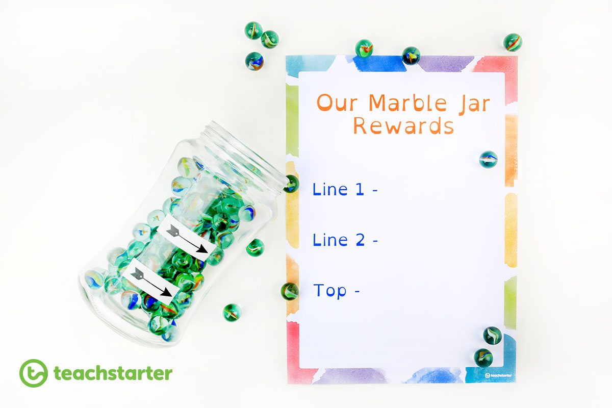 Marble Jar Classroom Reward System Idea