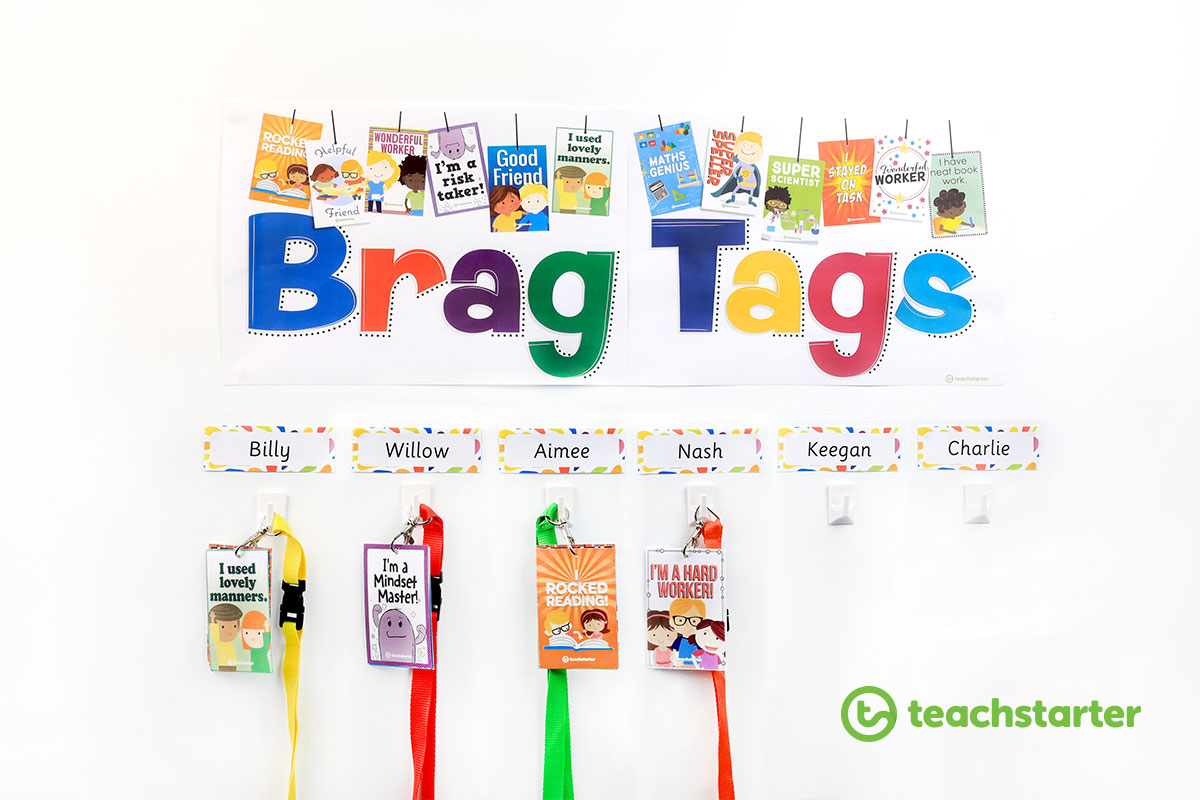 Printable Brag Tags - Classroom Reward System Ideas