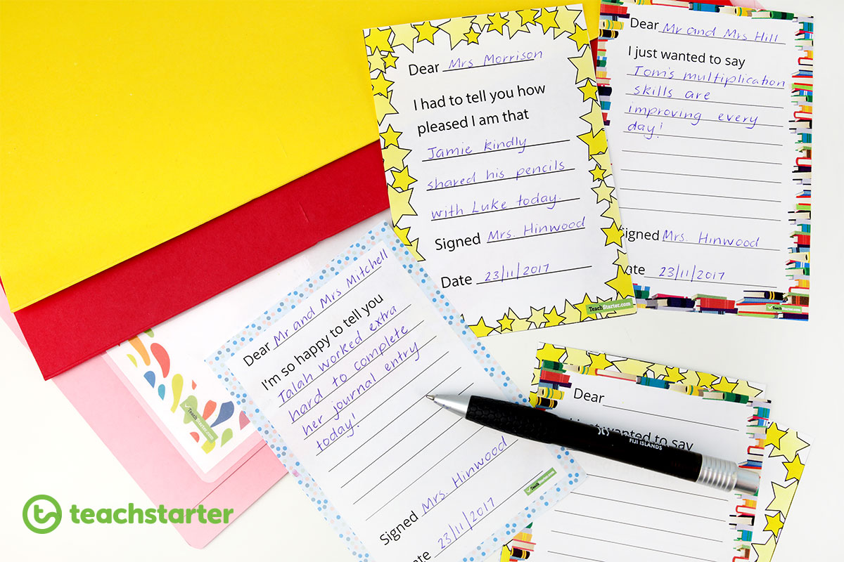 Positive Parent Notes for teachers to print and send home