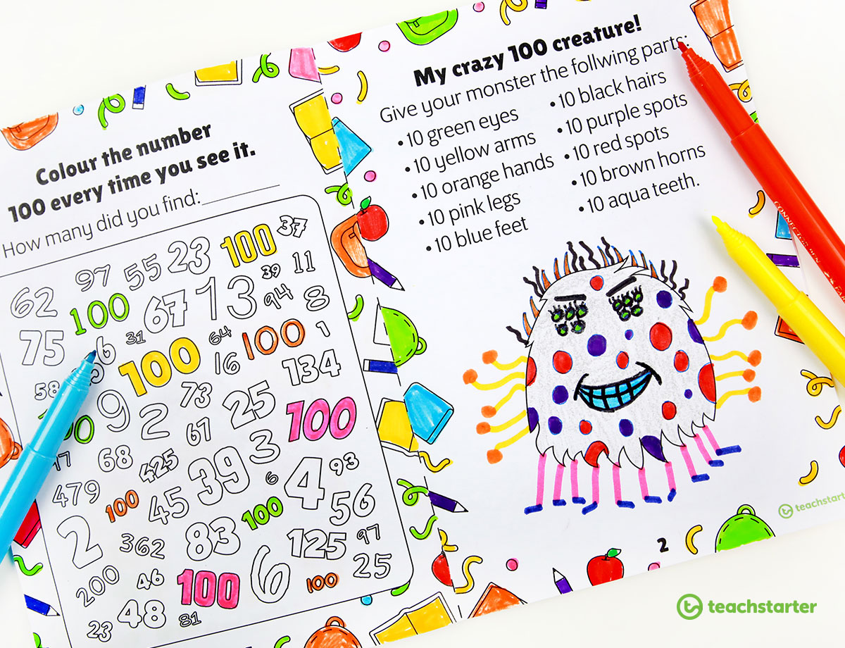 100 Days of School Mini Activity Booklet