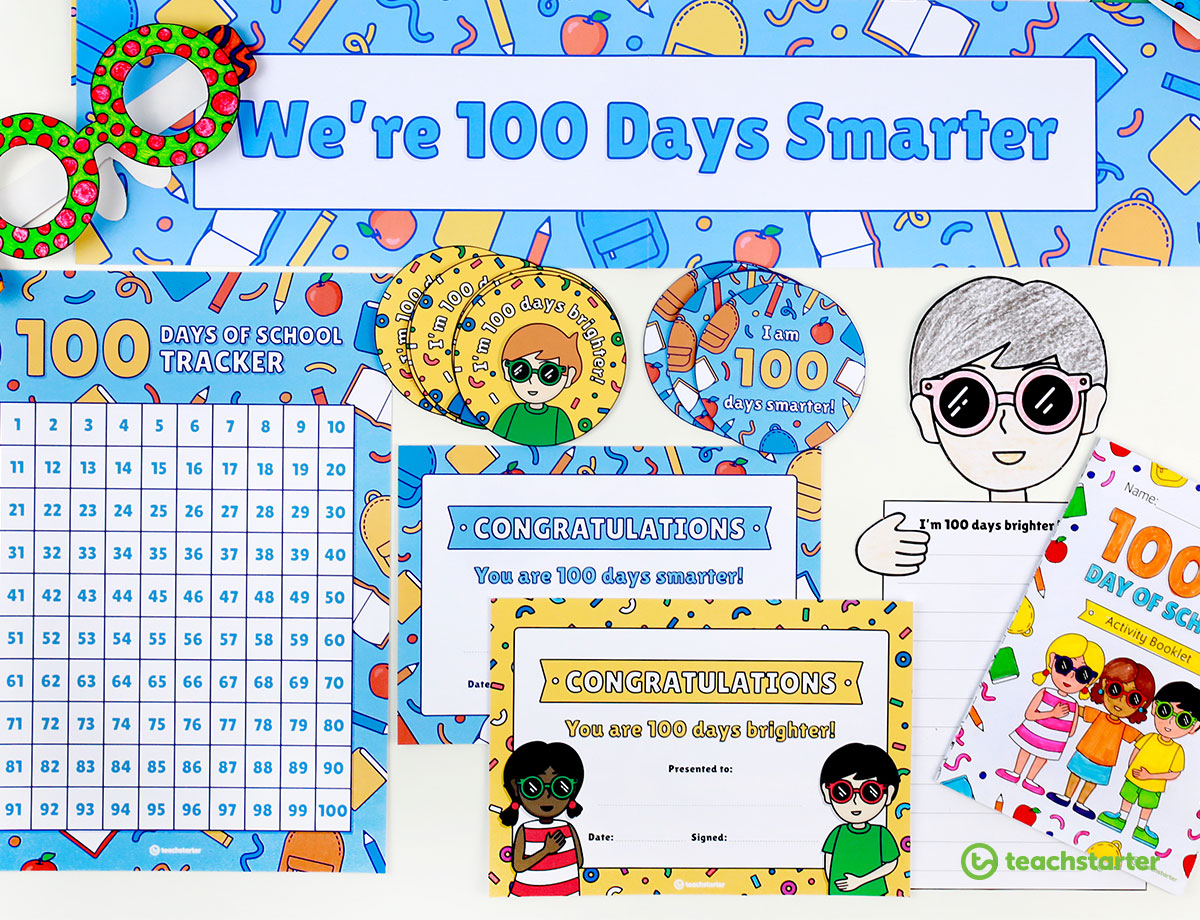 100th Day of School Printable Resources