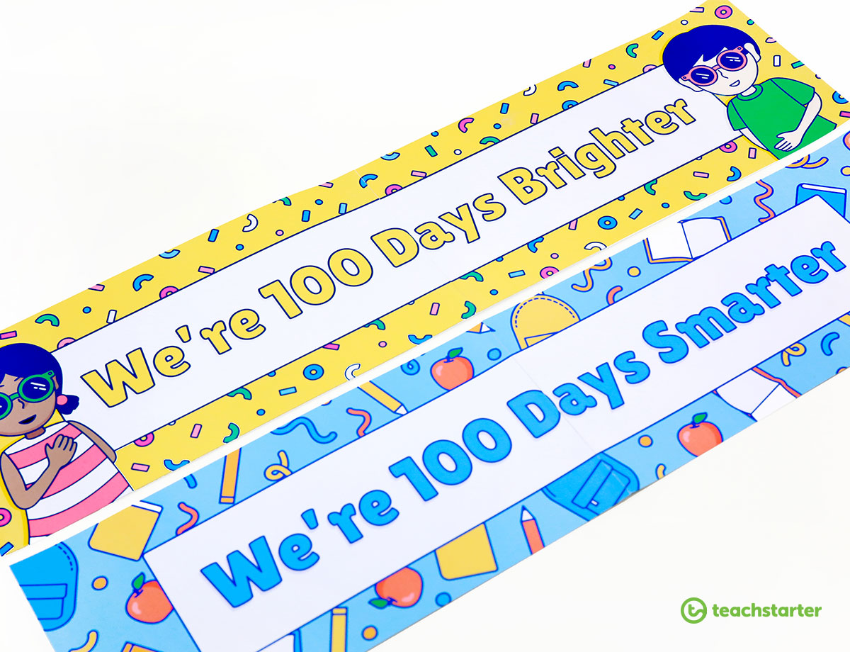 100th Day of School Display Banners