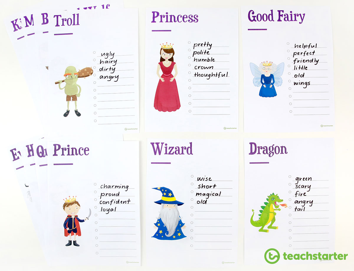 Fairy Tale Brainstorming Sheets